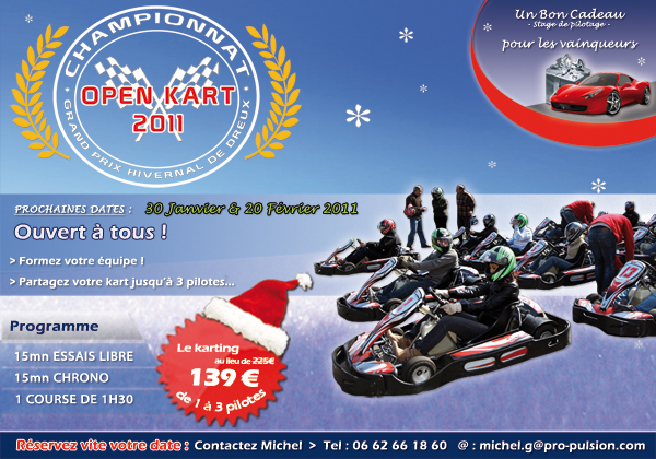 Challenge karting hivernal de Dreux